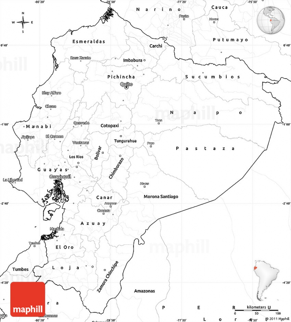Blank Simple Map Of Ecuador - Printable Map Of Ecuador