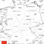 Blank Simple Map Of Germany   Large Printable Map Of Germany