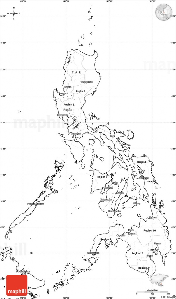 Blank Simple Map Of Philippines - Free Printable Map Of The Philippines