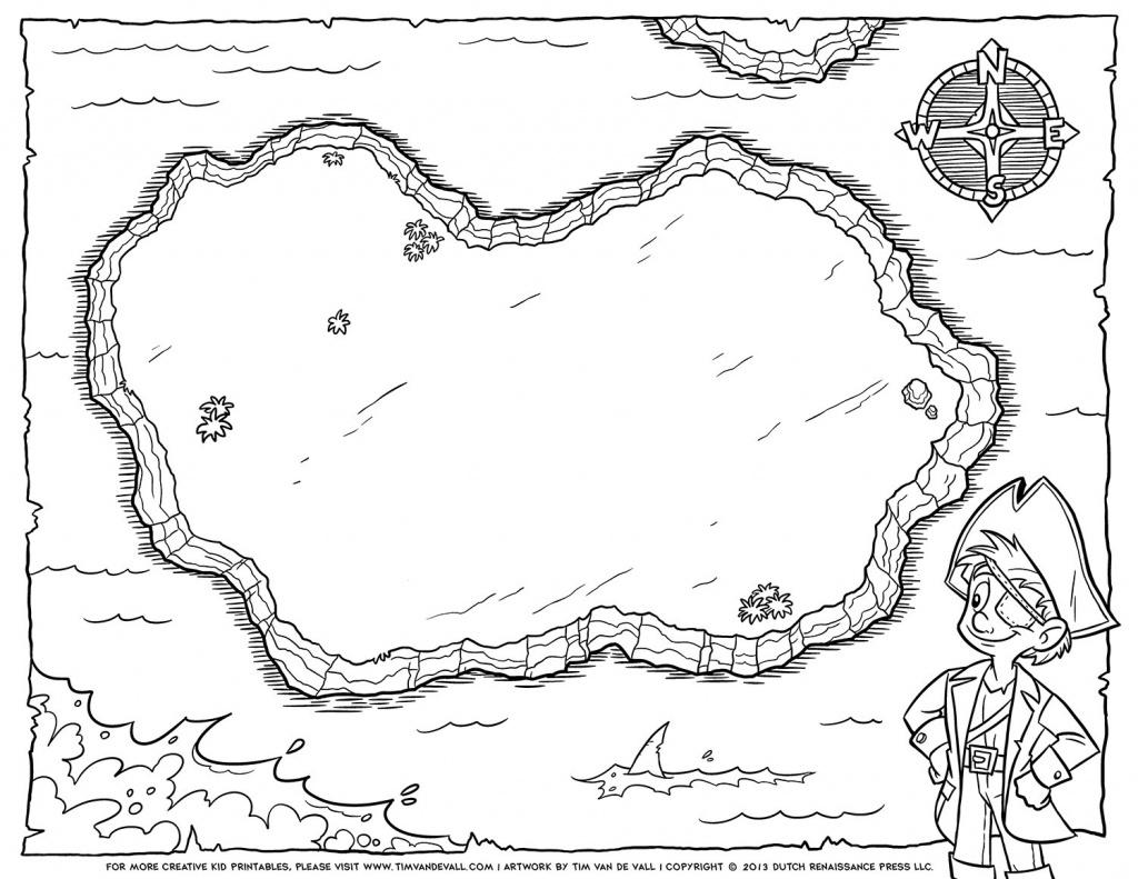 Blank Treasure Map Template. Site Map For Scavenger Hunt Fun Com - Pirate Treasure Map Printable