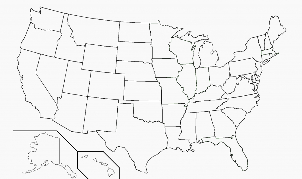 Blank United States Map With States Outline Inspirationa Relevant Us - Printable Blank Us Map With State Outlines
