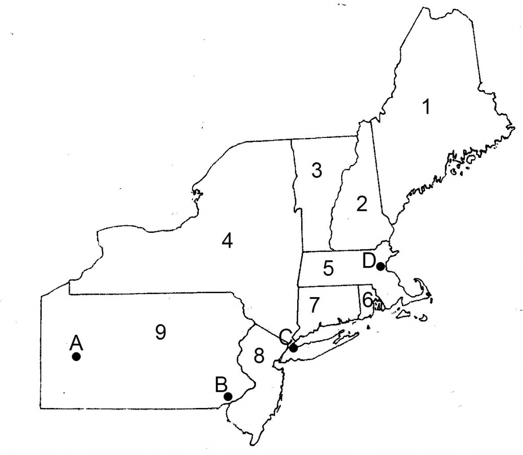 Blank Us Northeast Region Map Label Northeastern States Printout At - Printable Map Of Northeast States