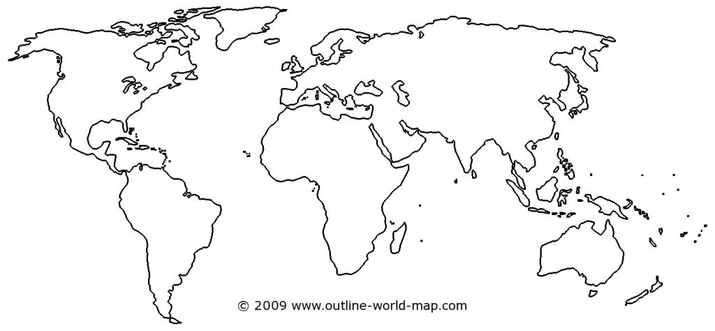 Blank World Map Image With White Areas And Thick Borders - B3C | Ecc - World Map Outline Printable For Kids