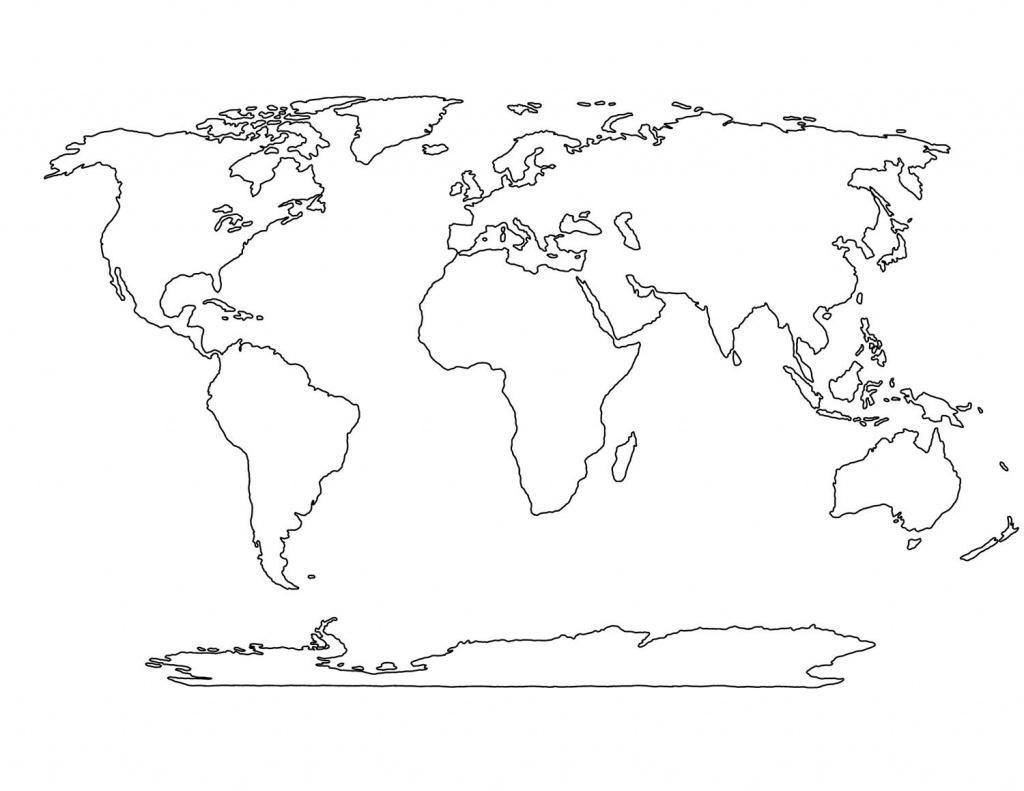Blank World Map Printable | Social Studies | World Map Outline - World Map Stencil Printable