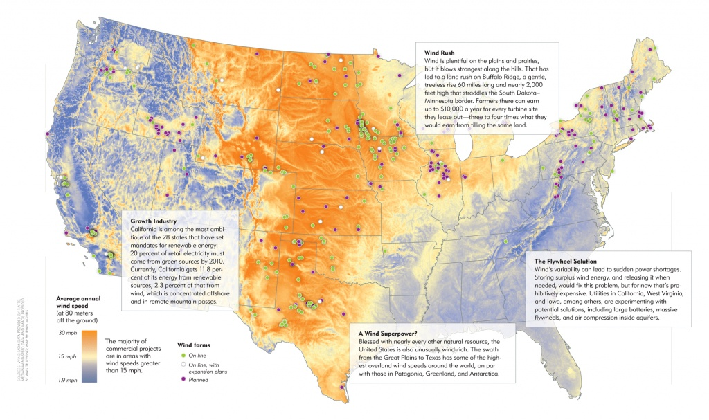 Blowback - The Atlantic - Wind Farms Texas Map