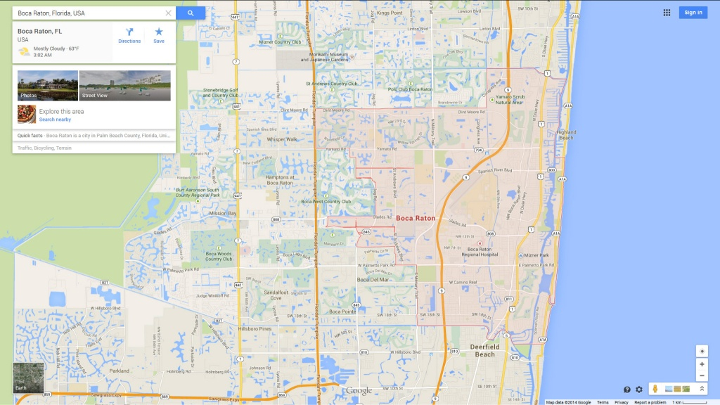 Boca Florida Map And Travel Information | Download Free Boca Florida Map - Boca Florida Map