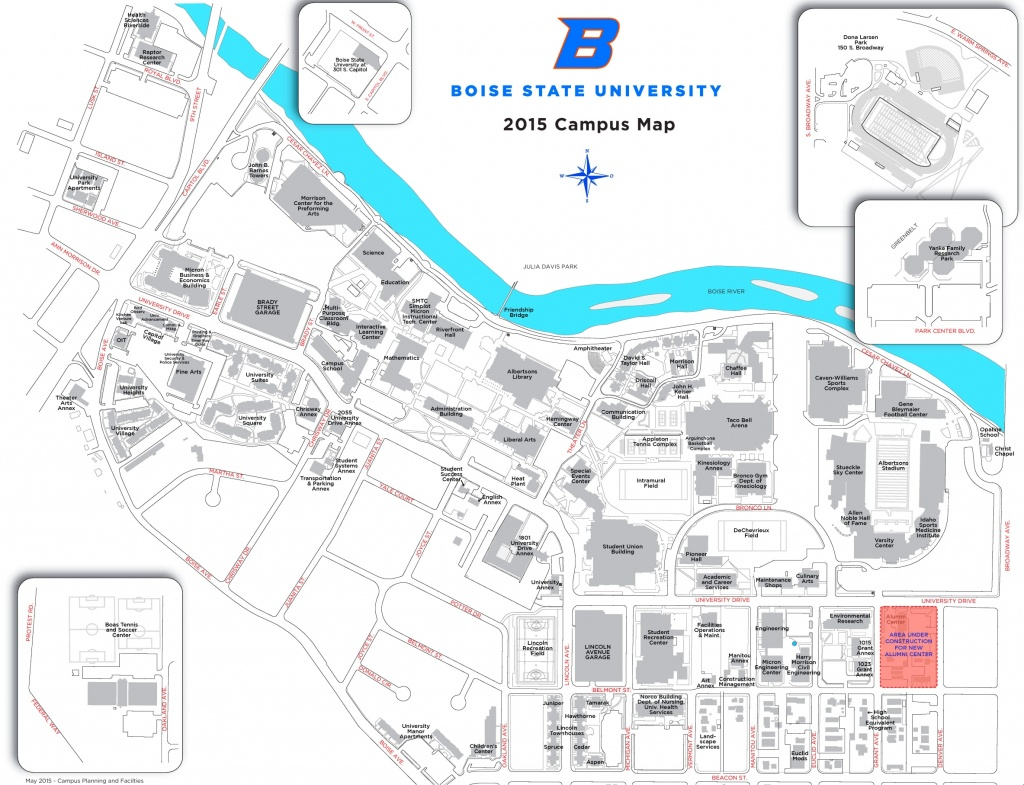 Boise State University Campus Map - Boise State University Printable Campus Map