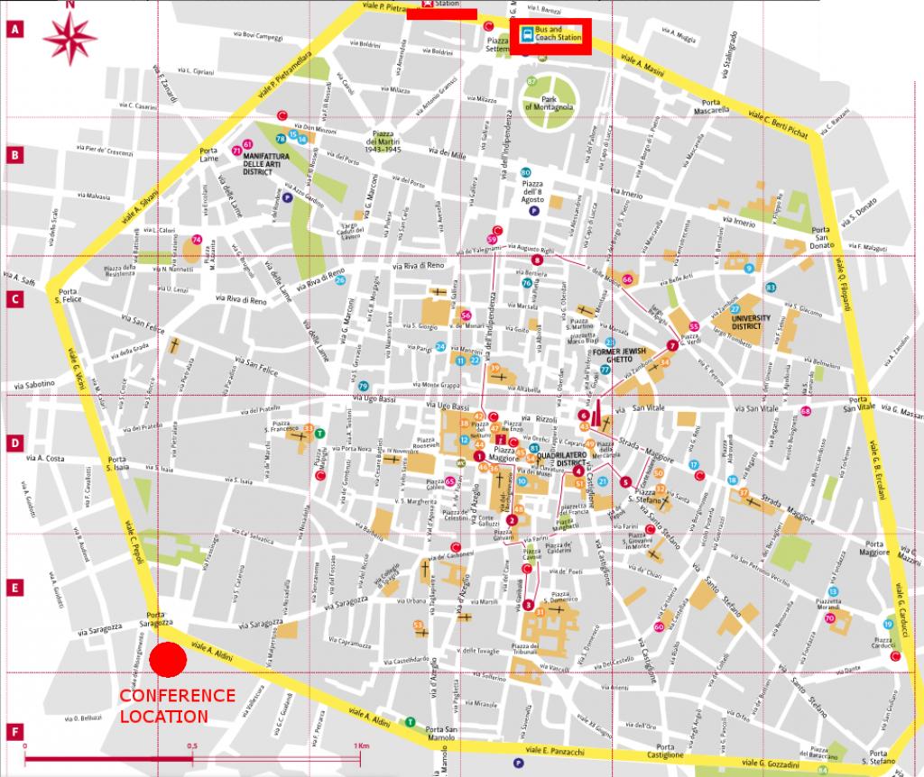 Bologna Italy Map And Travel Information | Download Free Bologna - Printable Map Of Bologna City Centre