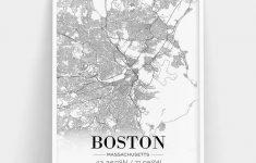 Boston City Map Printable