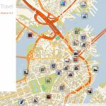 Boston Printable Tourist Map | Sygic Travel   Cambridge Tourist Map Printable