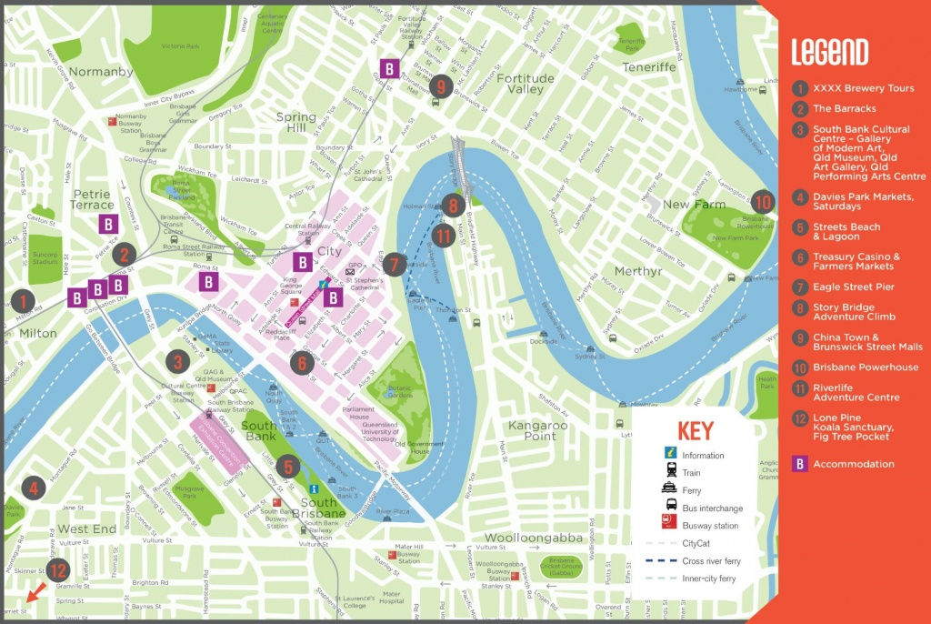 Brisbane Maps | Australia | Maps Of Brisbane - Brisbane City Map Printable