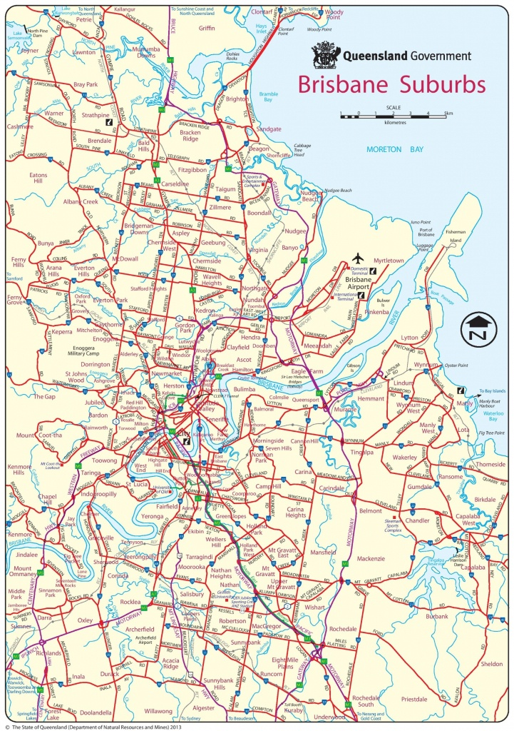 Brisbane Suburbs Map - Brisbane City Map Printable