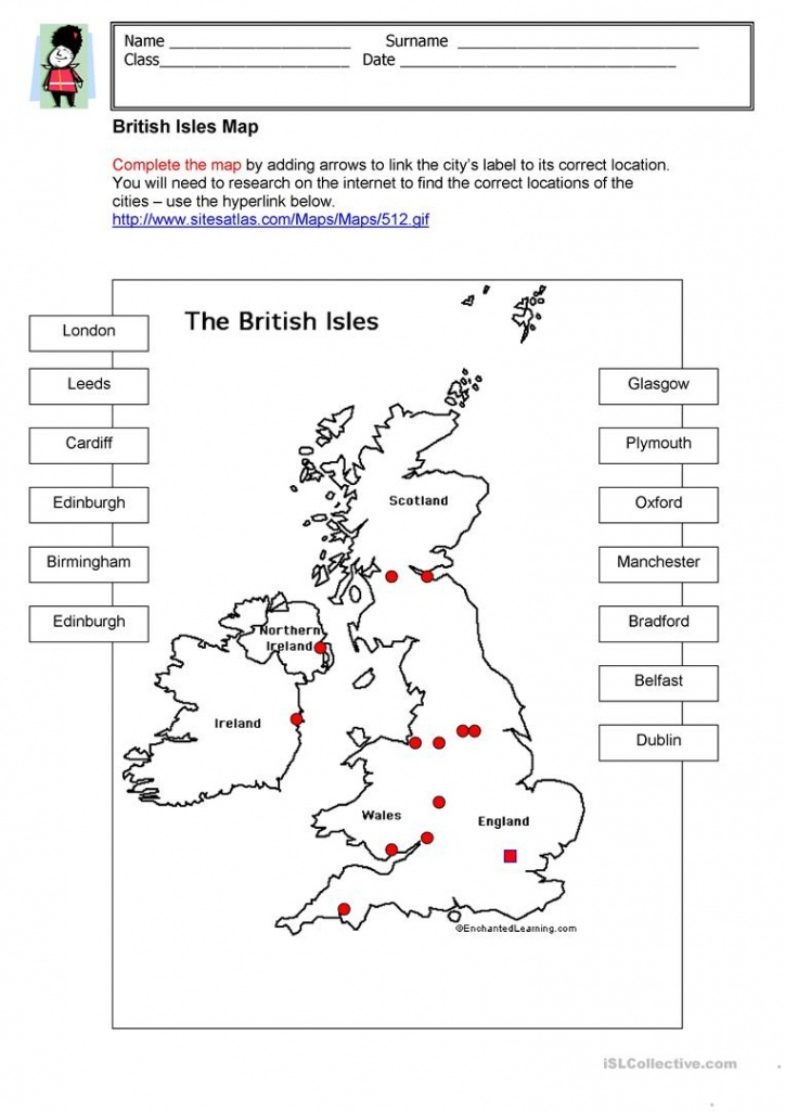 British Isles Map Worksheet - Free Esl Printable Worksheets Made - Free Printable Map Worksheets