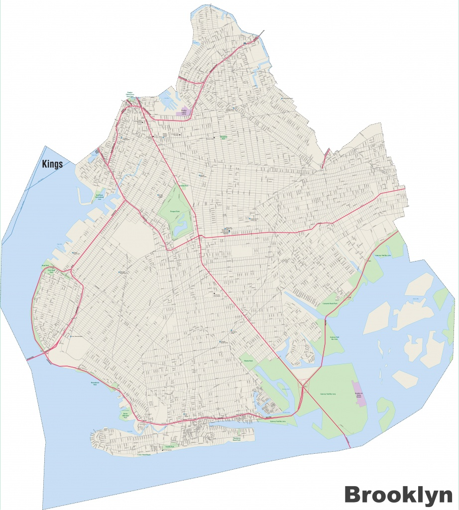 Brooklyn Street Map - Brooklyn Street Map Printable