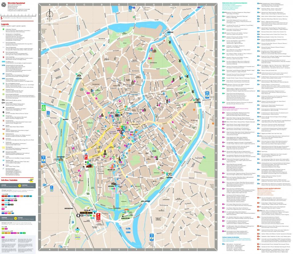 Bruges Sightseeing Map - Bruges Tourist Map Printable