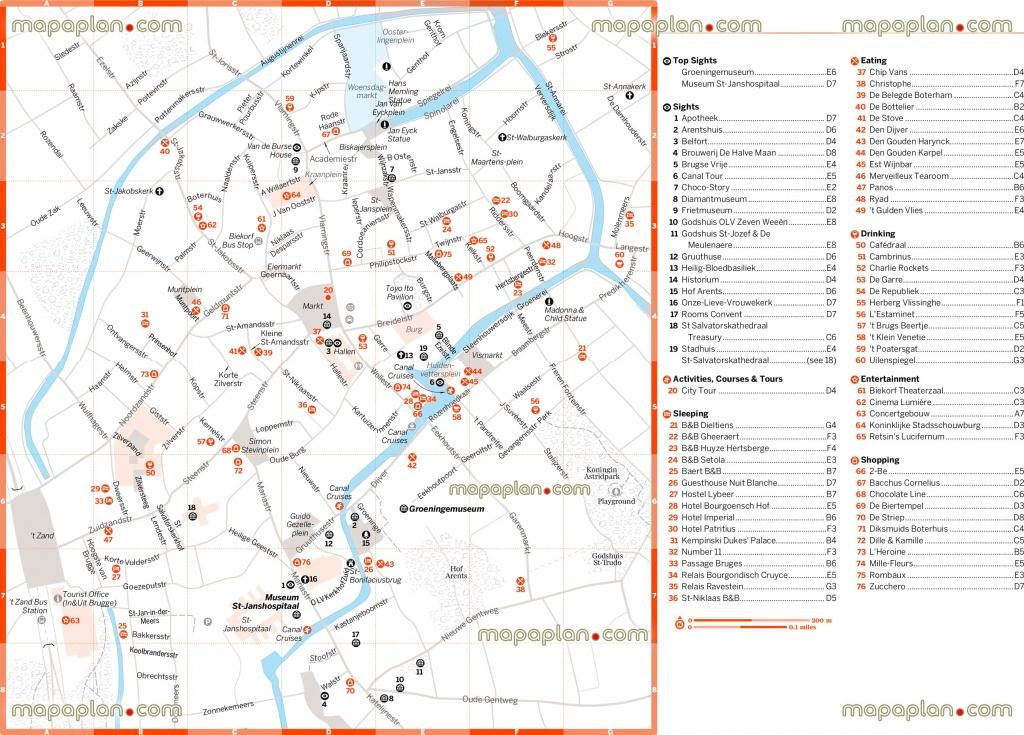 Bruges Tourist Map And Travel Information | Download Free Bruges - Bruges Tourist Map Printable