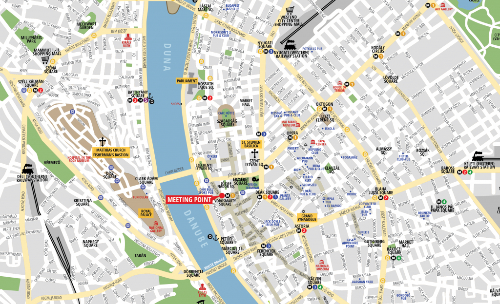 Budapest Attractions Map Pdf - Free Printable Tourist Map Budapest - Budapest Tourist Map Printable