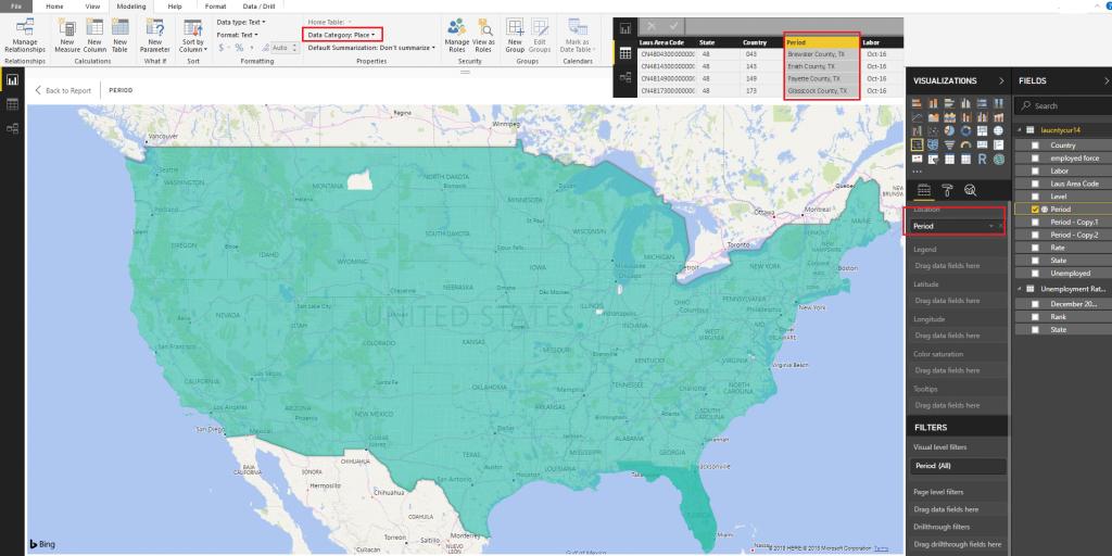 Bug With Bing Maps For Defined Usa Counties - Microsoft Power Bi - Bing Maps Florida