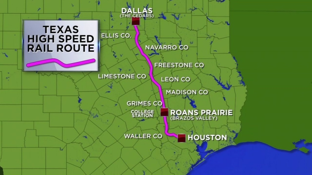 Bullet Train From Houston To Dallas Takes Another Step Forward - High Speed Rail Texas Route Map