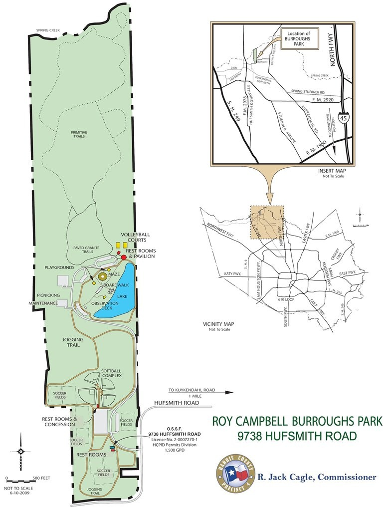 Burroughs Park - Maplets - Texas Bbq Trail Map