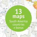 Buy 13 Vector Maps South America Countries: Sale 70% Off   Printable Map Of South America With Countries