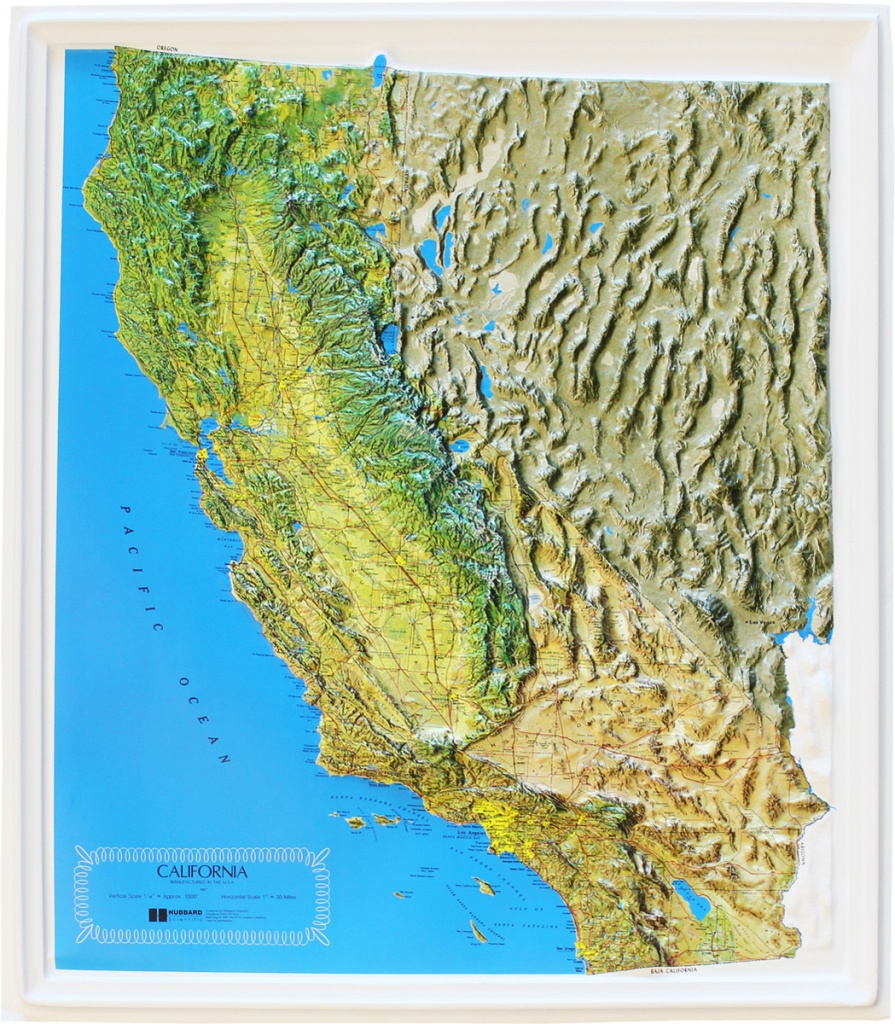 Buy California Relief Map   Flagline - California Relief Map