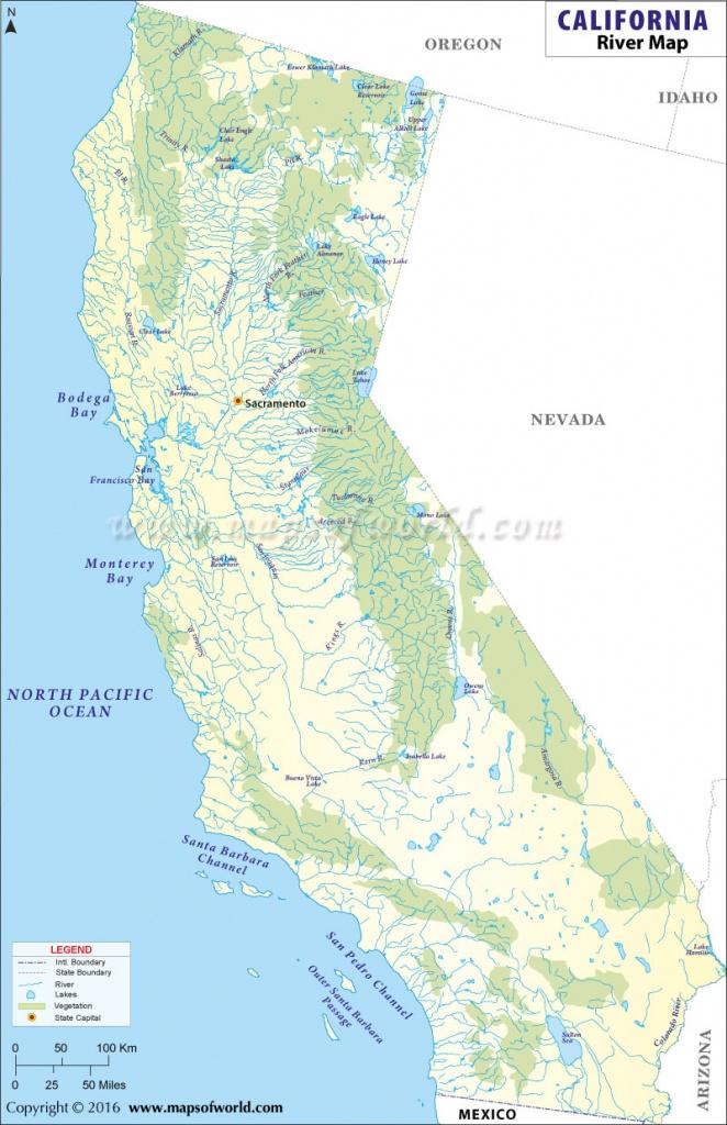 Buy California River Map - Buy Map Of California