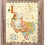 Buy Republic Of Texas Map 1845 Framed   Historical Maps And Flags   Texas Maps For Sale