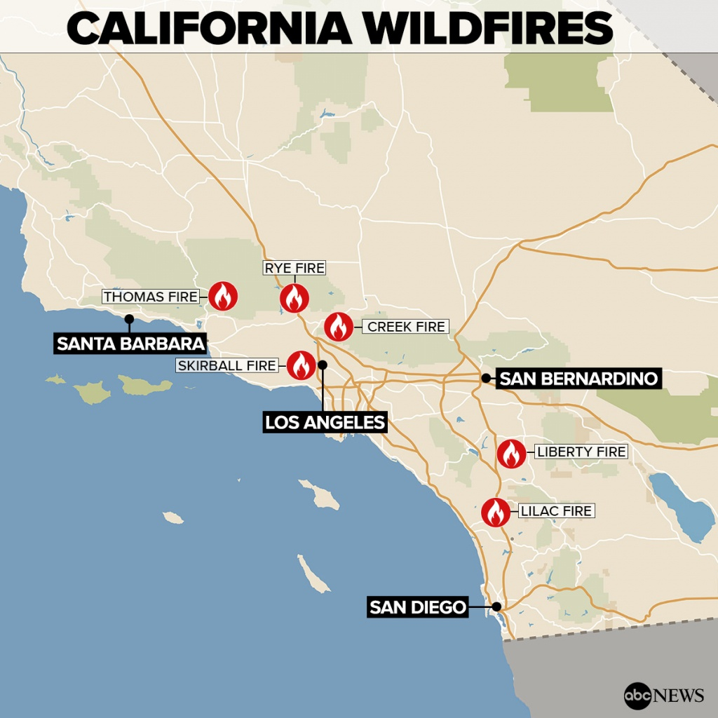 By The Numbers: Southern California Wildfires - Abc News - Abc News California Fires Map