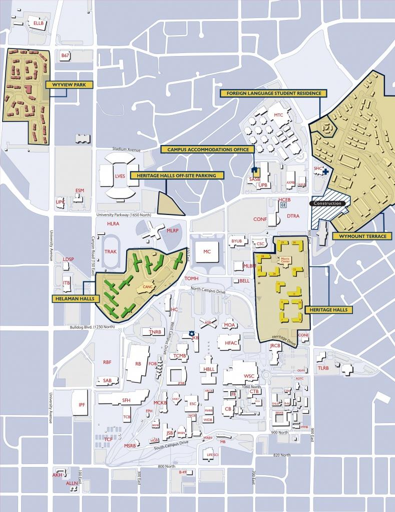 Byu Campus Map | Byu | Campus Map, College, Map - Byu Campus Map Printable