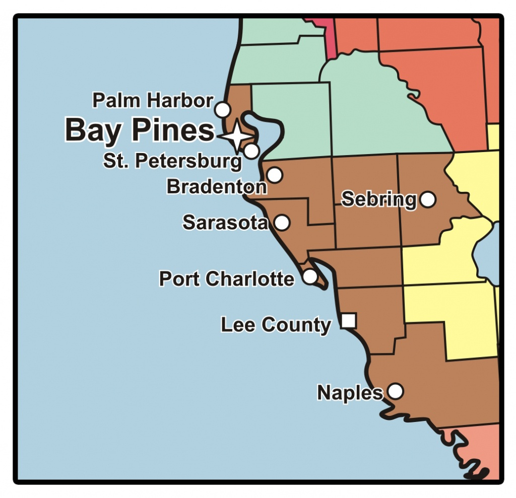 C.w. Bill Young Department Of Veterans Affairs Medical Center - Bay - Bay Pines Florida Map