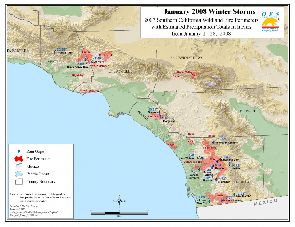 Ca Oes, Fire - Socal 2007 - Map Of Malibu California Area