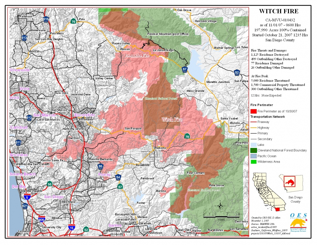 Ca Oes, Fire - Socal 2007 - Riverside California Fire Map