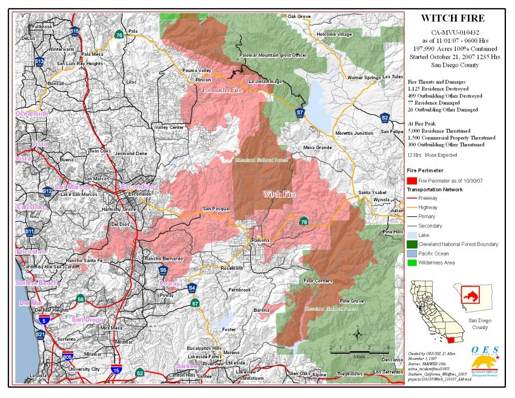Ca Oes, Fire - Socal 2007 - San Diego California Fire Map