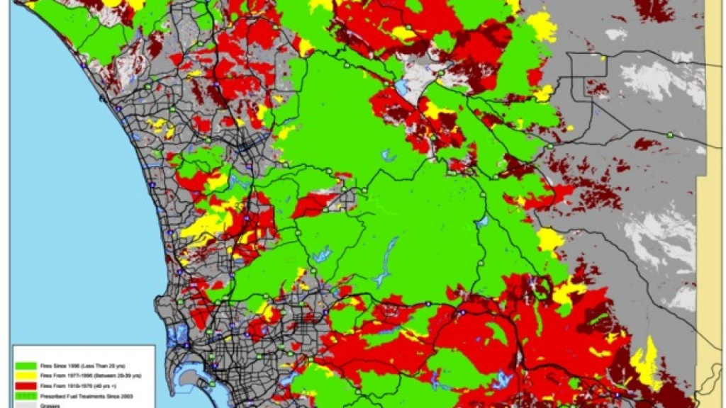 Cal Fire Map: Wildfire Danger Zones In San Diego County - San Diego California Fire Map