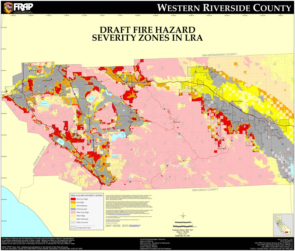 Cal Fire Riverside County West Fhsz Map Within Of California - Touran - Riverside California Fire Map