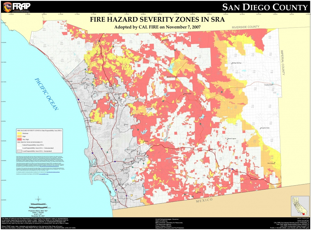Cal Fire – San Diego County Fhsz Map Throughout Zip Code Map Of San - San Diego County Zip Code Map Printable