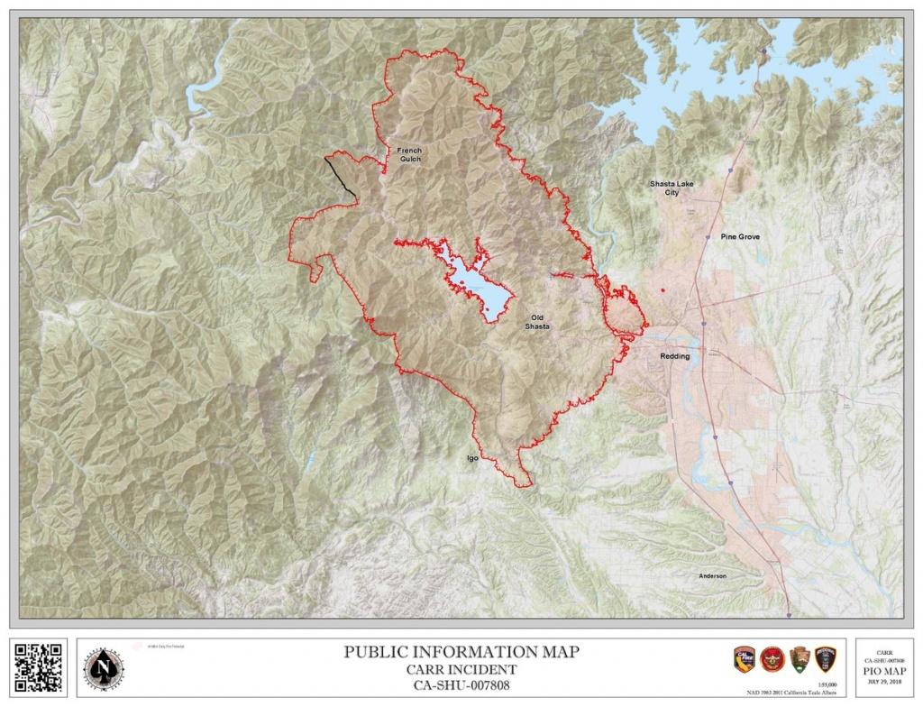 "Cal Fire Shu On Twitter: ""#carrfire [Update] Incident Map 07.29… "" - Redding California Fire Map"