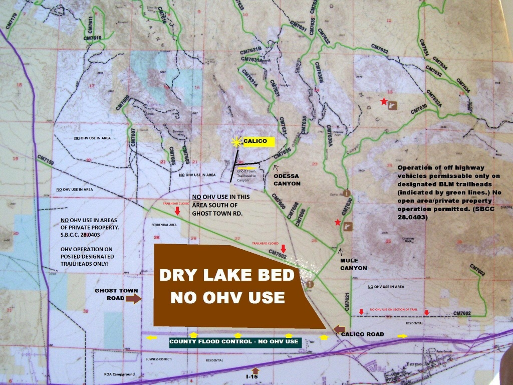 Calico Ohv Information - California Ohv Map