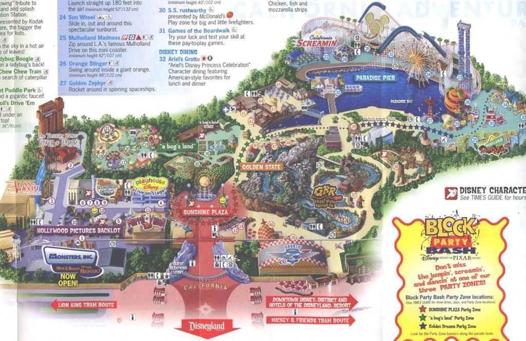 California Adventure Map Pdf Maps Of Springs Disney Awesome Projects - California Adventure Map Pdf