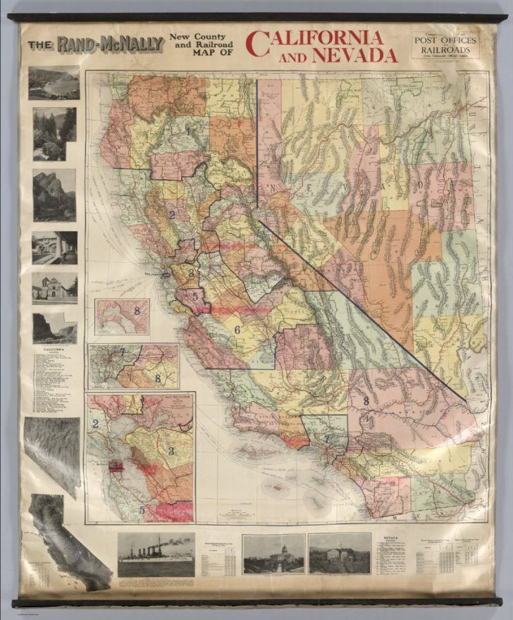 Rand Mcnally California Map