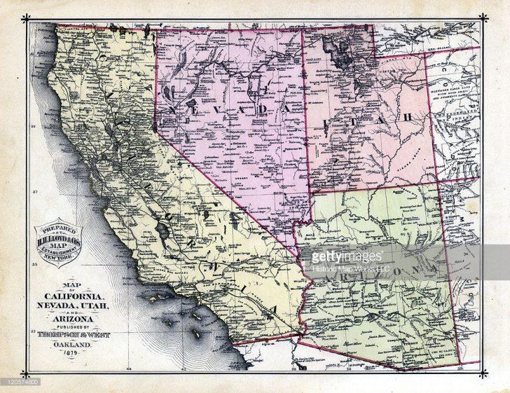 Road Map Of California Nevada And Arizona