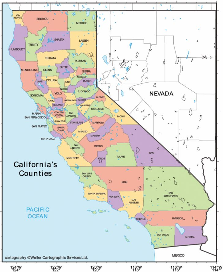 Map Of Northern California Counties And Cities