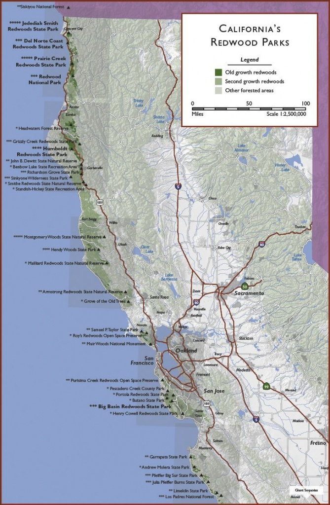 California | Click On Grey Boxes To View Regional Maps; Click On - Northern California Hiking Map