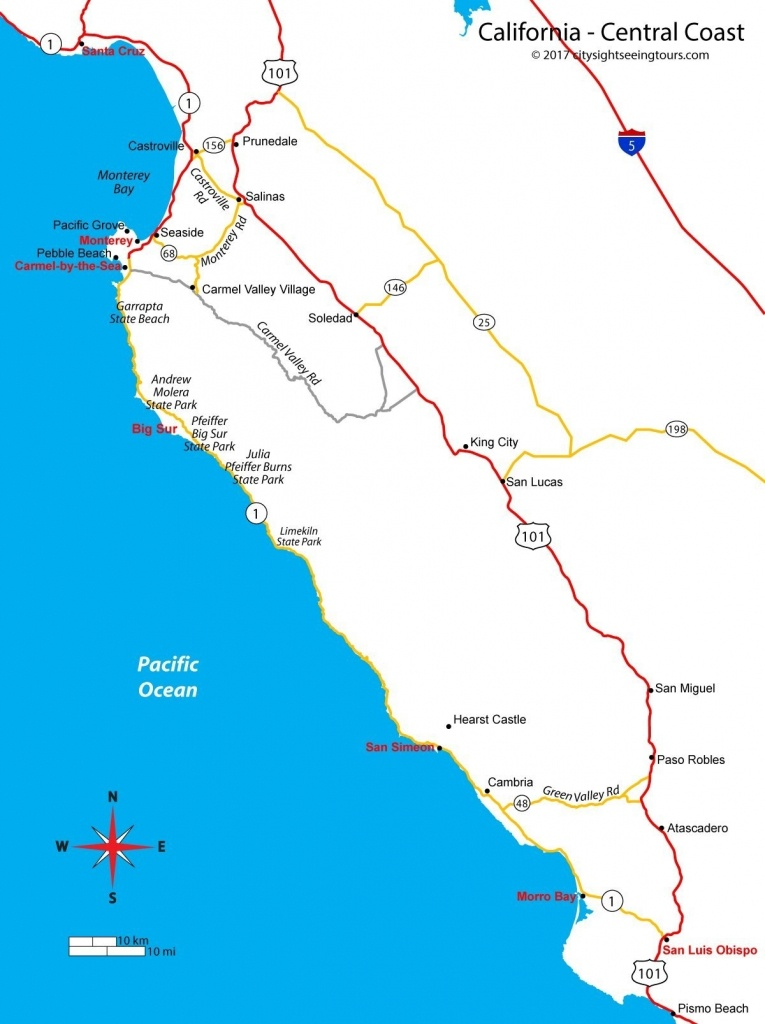 California Coast Map Pismo Beach – Page 2 – Map Of Usa District - Pismo Beach California Map