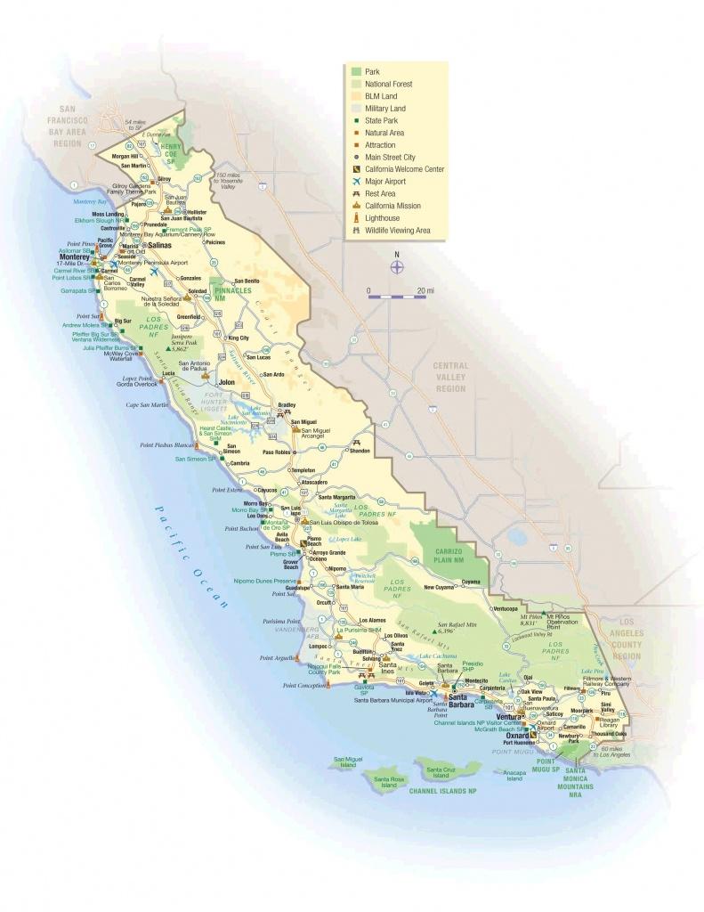 California Coastal Towns Map California Beach Towns Map Regarding - Map Of Central California Coast Towns