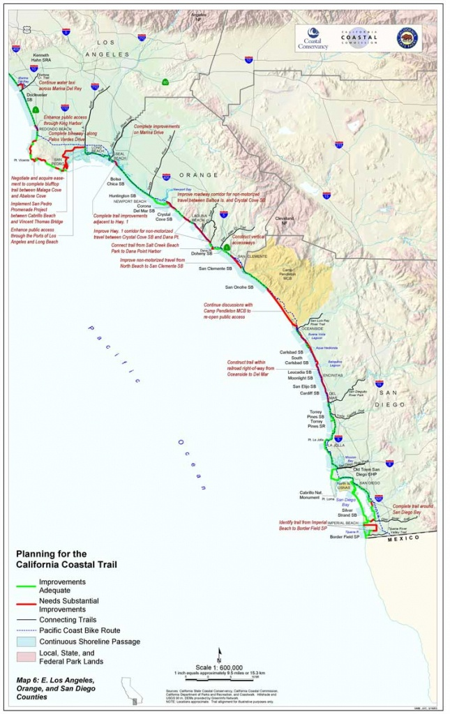 California Coastal Trail - California Coast Bike Route Map