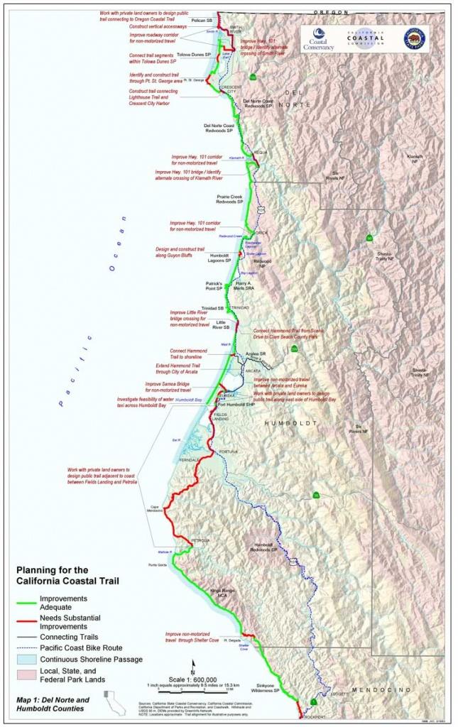 California Coastal Trail - California Coastal Trail Map