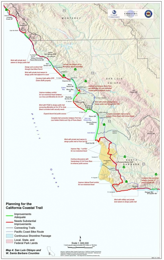 California Coastal Trail - California Hiking Trails Map