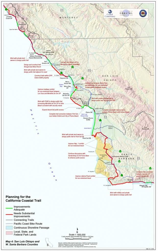 California Coastal Trail - Northern California Hiking Map